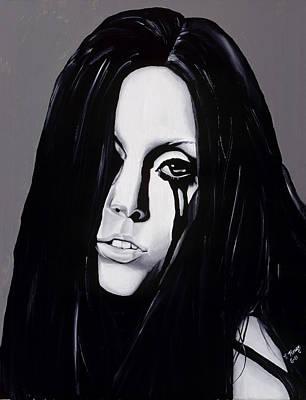Gaga Painting - Ladygaga by Leeann Stumpf
