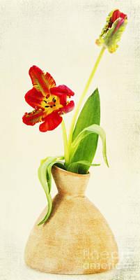 Tulips Mixed Media - Ladylike by Angela Doelling AD DESIGN Photo and PhotoArt