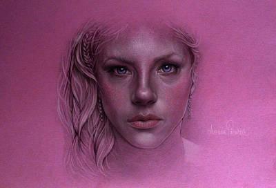 Lagertha Drawing - Lagertha Lothbrok by Marina Pacurar