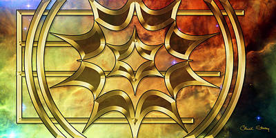 Digital Art - Lagoon Nebula 2 - Chuck Staley by Chuck Staley