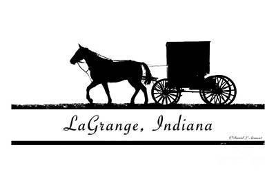 Amish Photograph - Lagrange Indiana T-shirt Design by David Arment