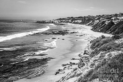 Laguna Beach Ca Black And White Photography Print by Paul Velgos