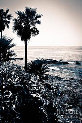 Outside Photograph - Laguna Beach California Black And White by Paul Velgos