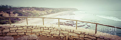Laguna Beach Crystal Cove Overlook Panorama Print by Paul Velgos