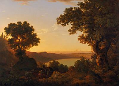 Painting - Lake Albano. Italy by Thomas Jones