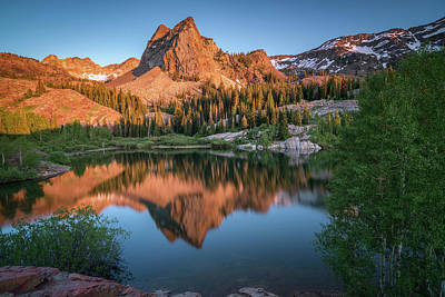 Sundial Photograph - Lake Blanche At Sunset by James Udall