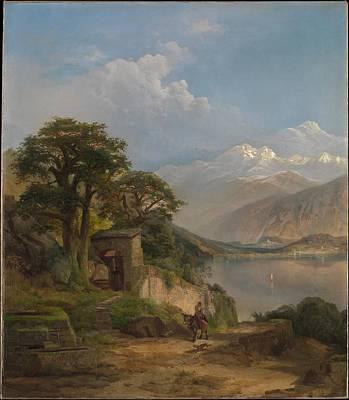 Lake Como Painting - Lake Como by Thomas Moran