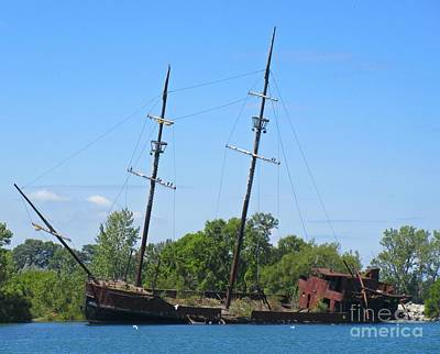 Lake Erie Shipwreck  Print by John Malone
