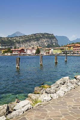 Lake Garda Torbole Lakeside Print by Melanie Viola