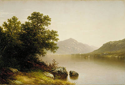 John William Casilear Painting - Lake George by John William Casilear