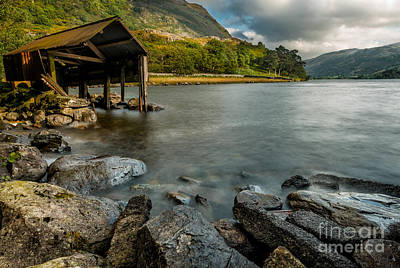 Autumn Scene Digital Art - Lake Gwynant Autumn by Adrian Evans