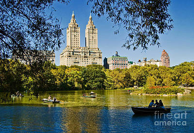 Central Photograph - Lake In Central Park by Allan Einhorn
