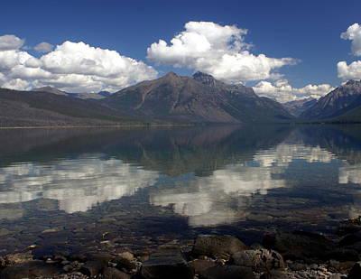 Lake Mcdonald Reflection Glacier National Park Print by Marty Koch