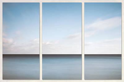 Triptych Photograph - Lake Michigan Minimalist Triptych by Scott Norris