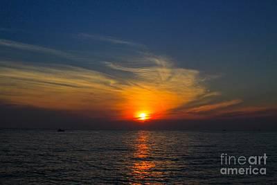 Lake Michigan Mixed Media - Lake Michigan Sunset by Robert Pearson