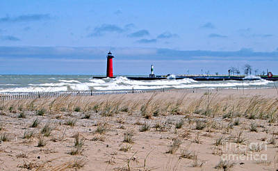 Lake Michigan With Northeast Winds Print by Kay Novy