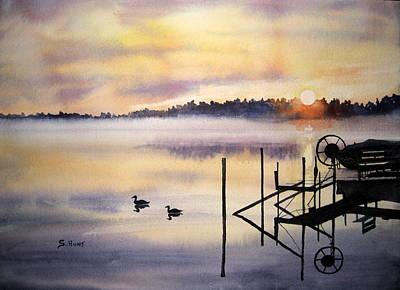 Mist Painting - Lake Mist by Shirley Braithwaite Hunt