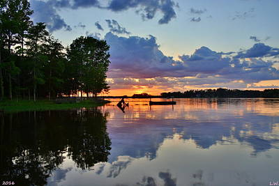 Clouds Photograph - Lake Murray Sc Reflections by Lisa Wooten