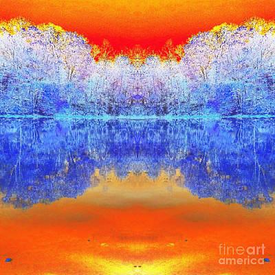 Indiana Scenes Digital Art - Lake Of Many Colors  by Scott D Van Osdol