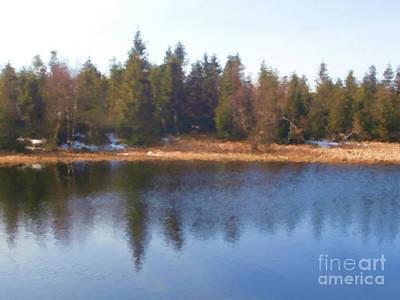 Lake Reflections Print by Miroslav Nemecek