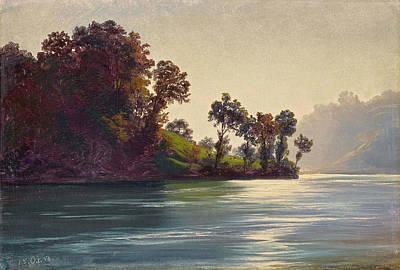 Robert Zuend Painting - Lake Scene by Robert Zuend