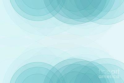 Digital Art - Lake Semi Circle Background Horizontal by Frank Ramspott