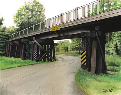 Lake Painting - Lake St. Rr Overpass by Ferrel Cordle