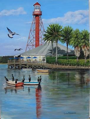 Anhinga Painting - Lake Sumter Lighthouse by Leda Rabenold