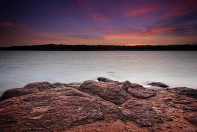 Landscape Photograph - Lake Sunset Iv by Ricky Barnard