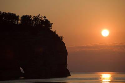 Lake Superior Sunset Print by Sebastian Musial