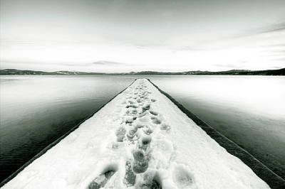Lake Tahoe Footprints In The Snow  Original by Dustin K Ryan