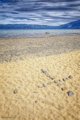 Water Photograph - Lake Tahoe Water Cross by LeeAnn McLaneGoetz McLaneGoetzStudioLLCcom