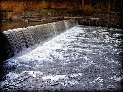 Lake To Lake Waterfall Print by Joan  Minchak