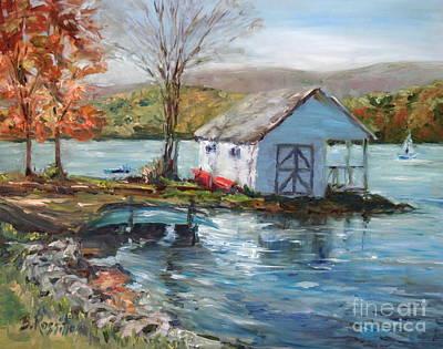 Lake Waramaug Painting - Lake Waramaug Autumn by B Rossitto