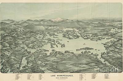 New Hampshire Painting - Lake Winnipesaukee New Hampshire by Celestial Images