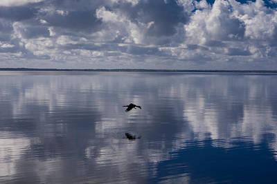 Seascape Photograph - Lake With Reflections by Zina Stromberg