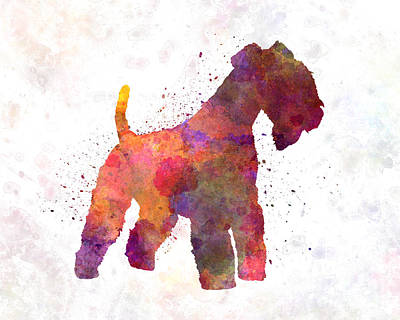 Lakeland Dog Painting - Lakeland Terrier In Watercolor by Pablo Romero