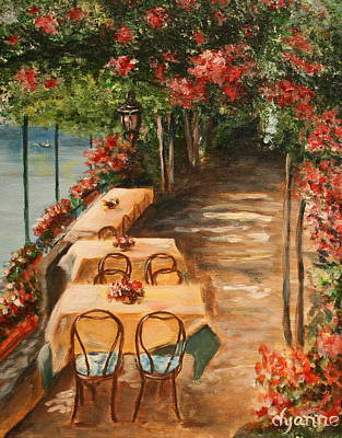 Lakefront Painting - Lakeside Cafe by Dyanne Parker