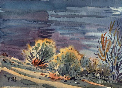 Sage Brush Painting - Lakeside by Donald Maier