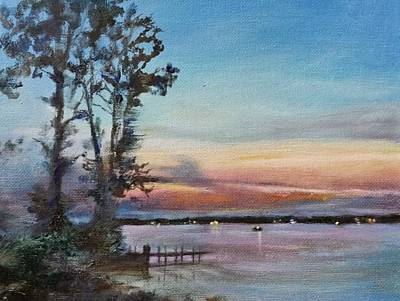 Lakefront Painting - Lakeside by Laurie VanBalen