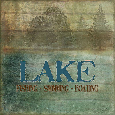 Mountain Mixed Media - Lakeside Lodge - Lake Life by Audrey Jeanne Roberts