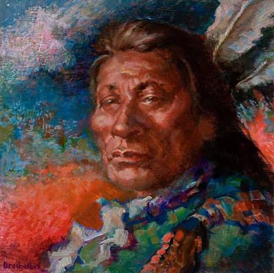 Lakota Man Print by Ellen Dreibelbis