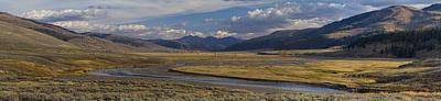 Sage Brush Photograph - Lamar Valley Panorama by Mark Kiver