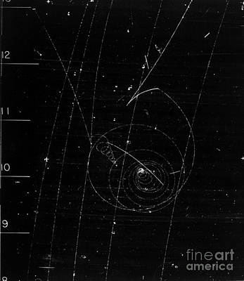 Lambda Decay, Bubble Chamber Event Print by Science Source
