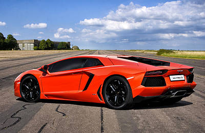 Lambo Runway Print by Peter Chilelli