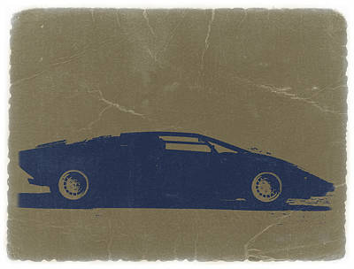 American Digital Art - Lamborghini Countach by Naxart Studio