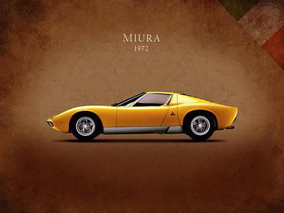 Vintage Poster Photograph - Lamborghini Miura by Mark Rogan