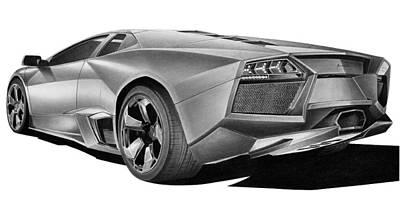 Lamborghini Reventon Print by Lyle Brown