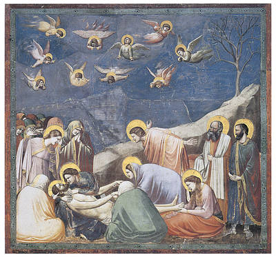 Lamention Painting - Lamentation by Giotto Di Bondone