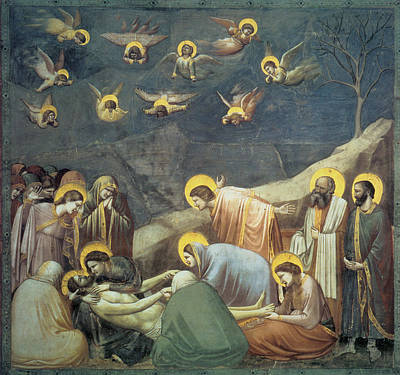 Religious Art Painting - Lamentation Of Christ by Giotto